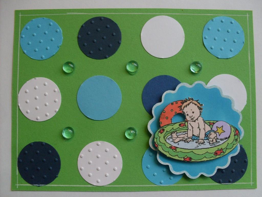 Lespetitescartesdesandrine carte b b dans sa piscine for Bebe dans piscine